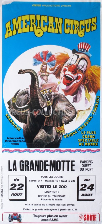 American Circus Circus Poster - Italy, 1986