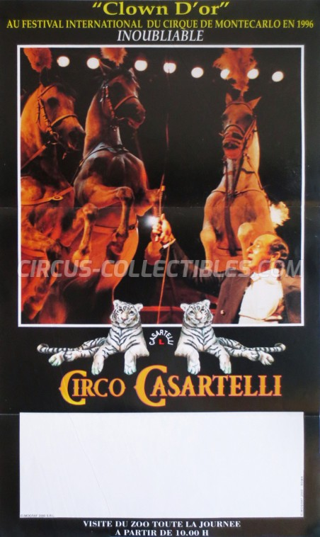 Medrano (Casartelli) Circus Poster - Italy, 1997