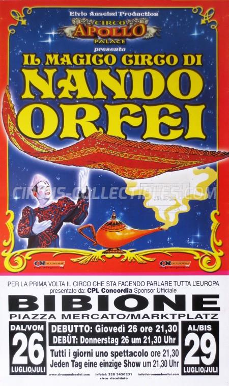 Nando Orfei Circus Poster - Italy, 2012