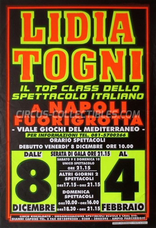 Lidia Togni Circus Poster - Italy, 2000
