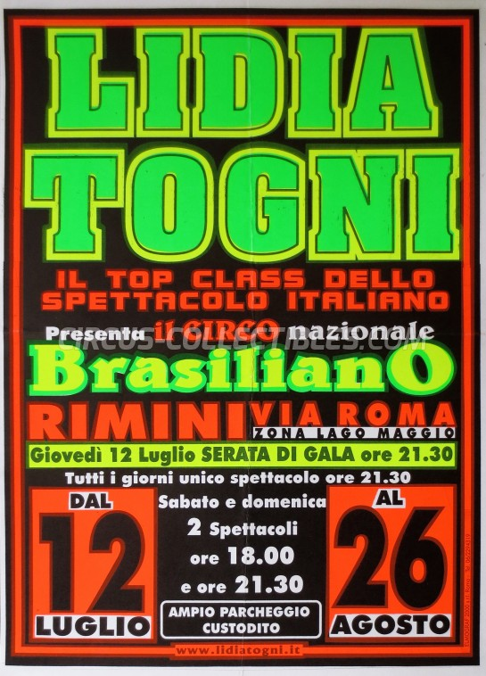 Lidia Togni Circus Poster - Italy, 2001