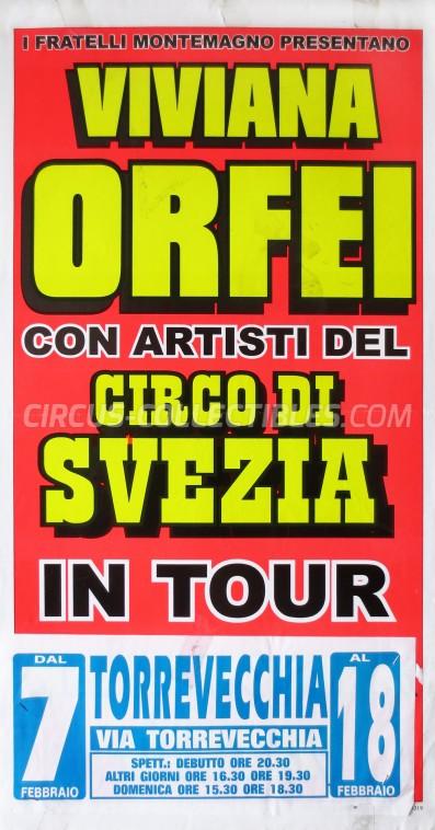 Viviana Orfei Circus Poster - Italy, 0