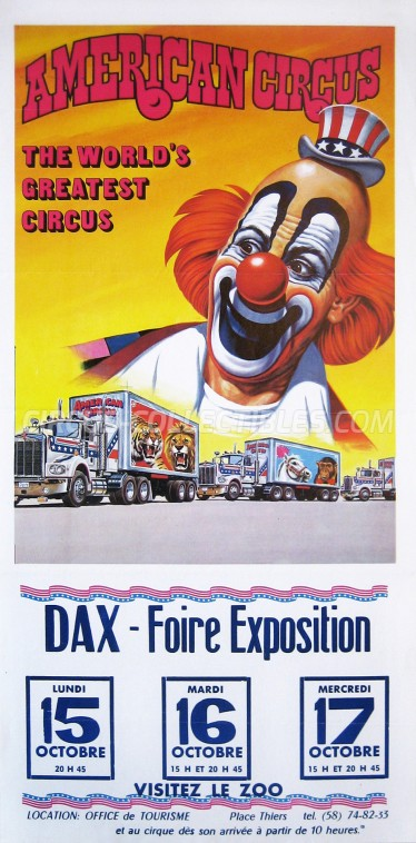 American Circus Circus Poster - Italy, 1984
