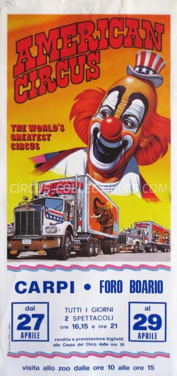 American Circus Circus Poster - Italy, 1982