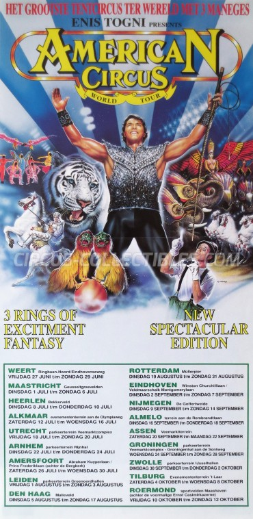 American Circus Circus Poster - Italy, 1997