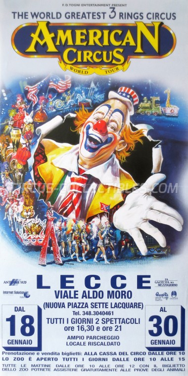 American Circus Circus Poster - Italy, 2002