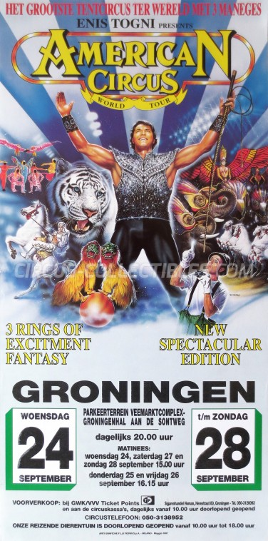 American Circus Circus Poster - Italy, 1997