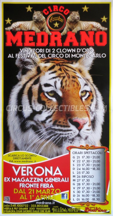 Medrano (Casartelli) Circus Poster - Italy, 2013