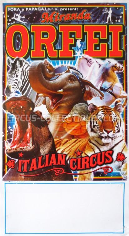 Miranda Orfei Circus Poster - Italy, 2012