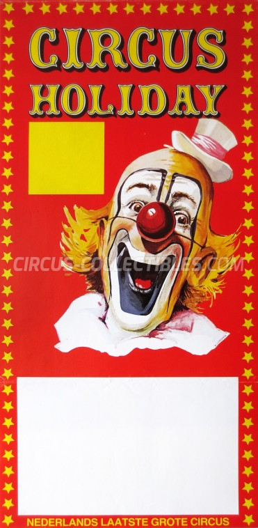 Holiday Circus Poster - Netherlands, 1984