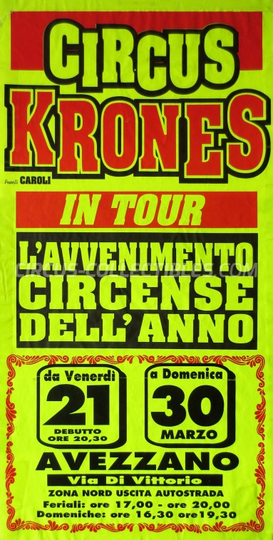 Krones Circus Poster - Italy, 0