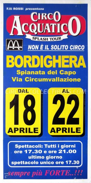 Acquatico Splash Tour Circus Poster - Italy, 2003