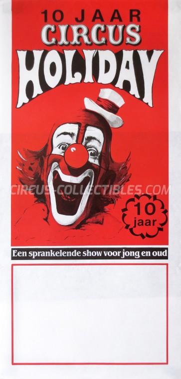 Holiday Circus Poster - Netherlands, 1989
