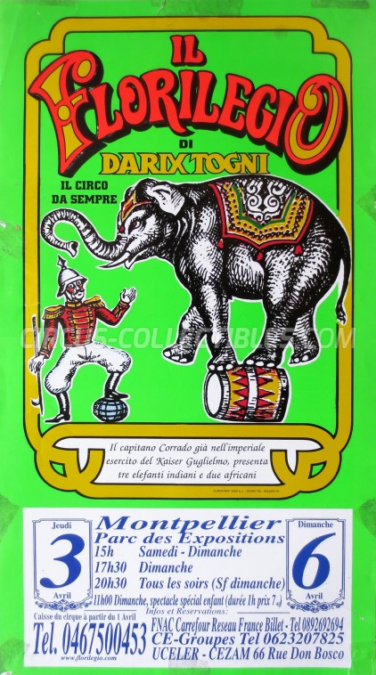 Darix Togni Circus Poster - Italy, 2003