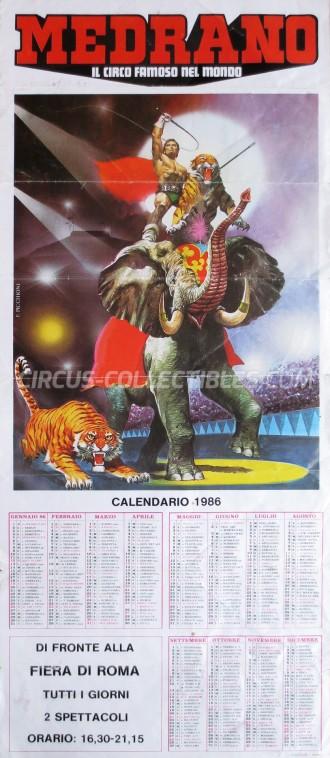 Medrano (Casartelli) Circus Poster - Italy, 1986