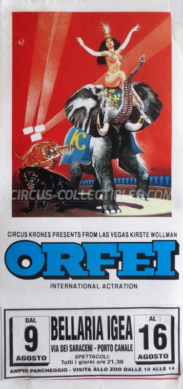 Krones Circus Poster - Italy, 1995