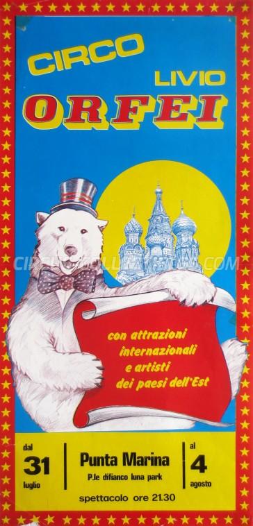 Livio Orfei Circus Poster - Italy, 0