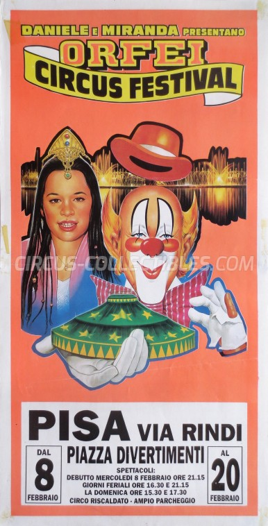 Miranda Orfei Circus Poster - Italy, 1995