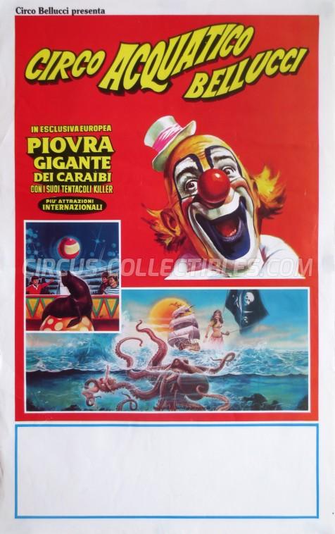 Acquatico Bellucci Circus Poster - Italy, 0