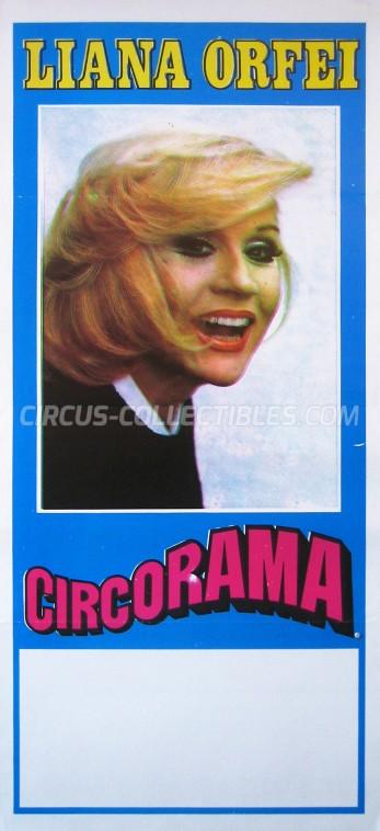 Liana Orfei Circus Poster - Italy, 1982