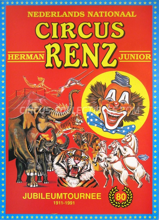Herman Renz Junior Circus Poster - Netherlands, 1991