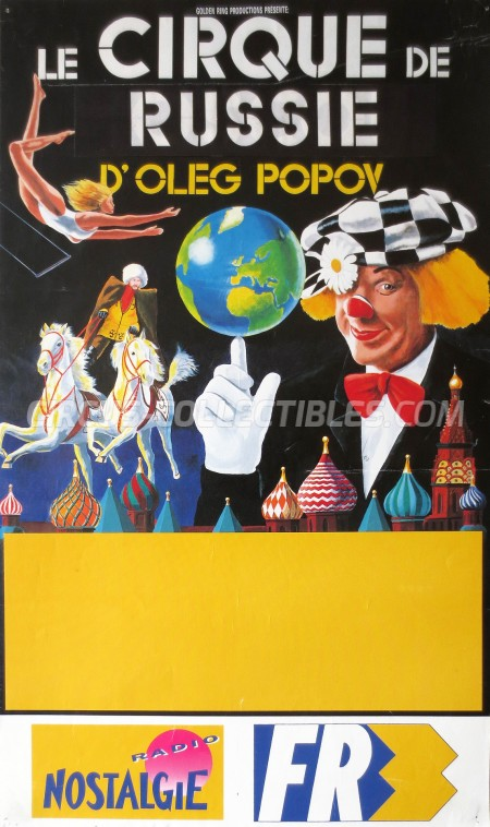 Moscow State Circus  Circus Poster - Russia, 1992