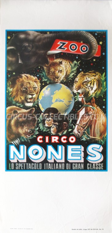 Nones Circus Poster - Italy, 1971
