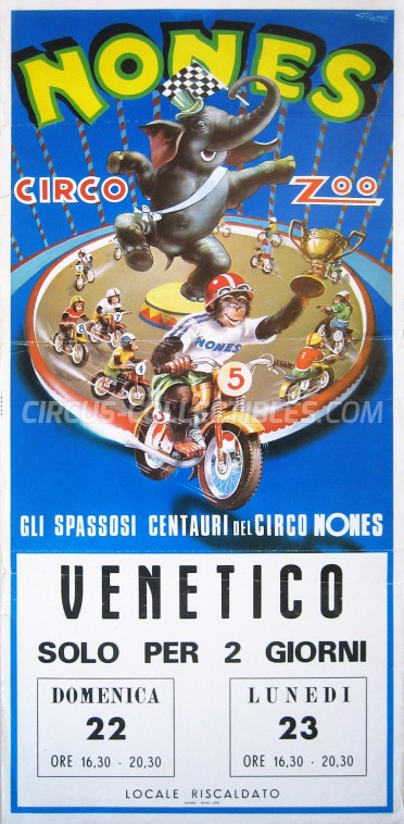 Nones Circus Poster - Italy, 1975