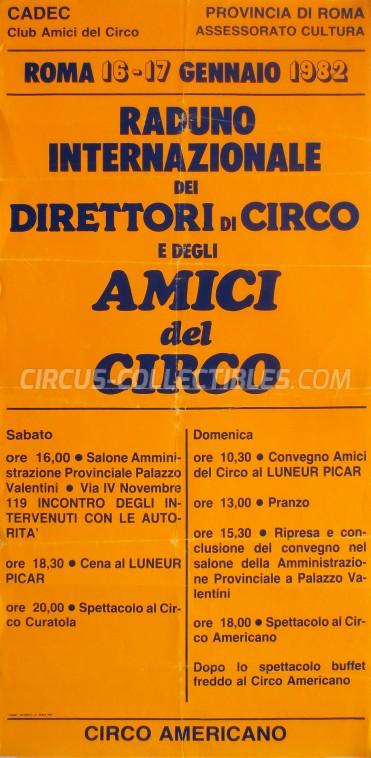 CADEC Circus Poster - Italy, 1982