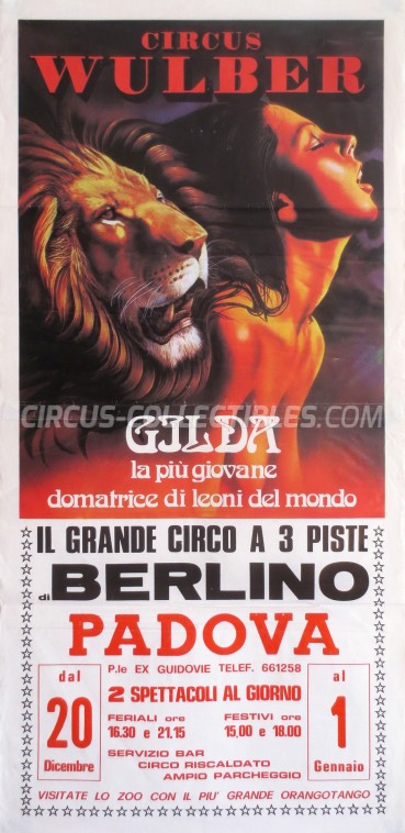 Wulber Circus Poster - Italy, 1989