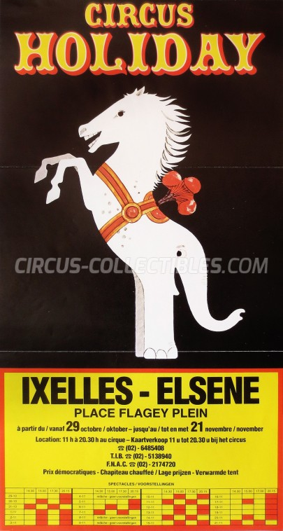 Holiday Circus Poster - Netherlands, 1982
