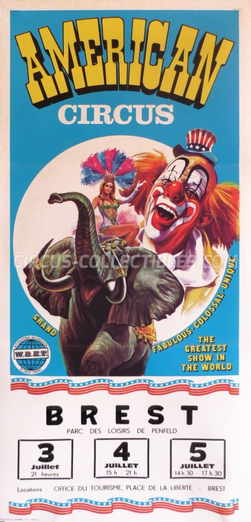 American Circus Circus Poster - Italy, 1981