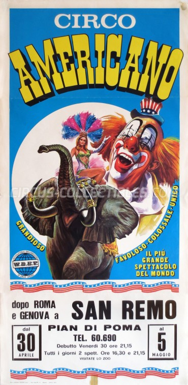 American Circus Circus Poster - Italy, 1976