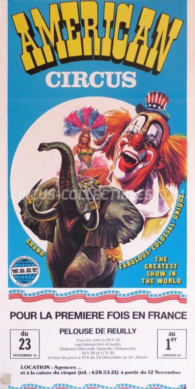 American Circus Circus Poster - Italy, 1979