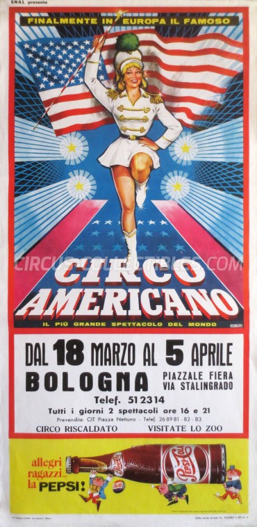 American Circus Circus Poster - Italy, 1966