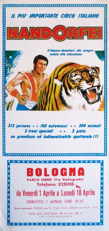 Nando Orfei Circus Poster - Italy, 1983