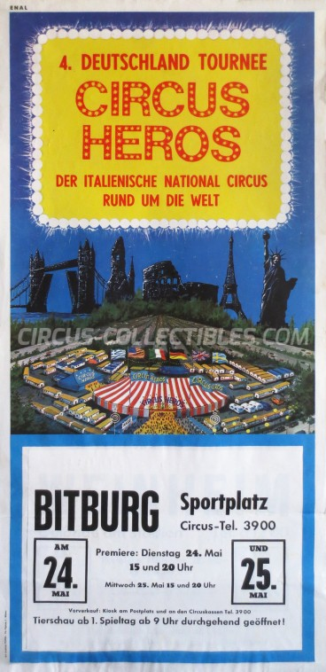Heros Circus Poster - Italy, 1966