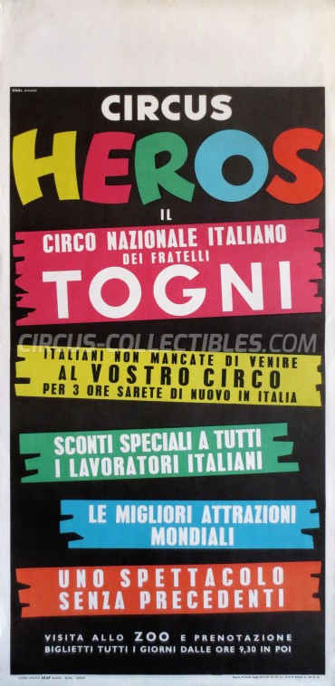 Heros Circus Poster - Italy, 1961