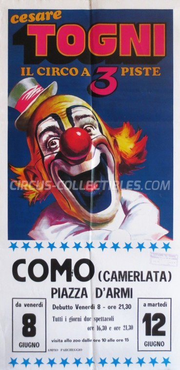 Cesare Togni Circus Poster - Italy, 1984