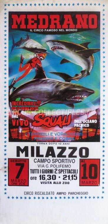 Medrano (Casartelli) Circus Poster - Italy, 1988