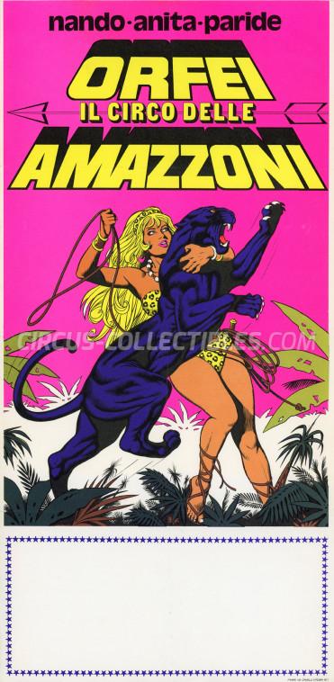 Nando, Anita, Paride Orfei Circus Poster - Italy, 1977