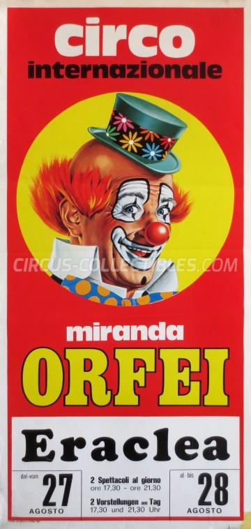 Miranda Orfei Circus Poster - Italy, 1981
