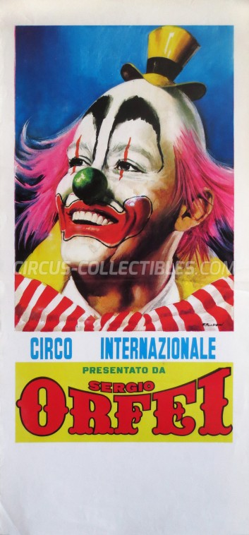 Sergio Orfei Circus Poster - Italy, 0
