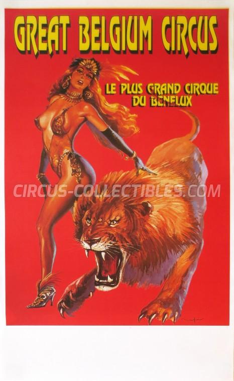 Great Belgium Circus Circus Poster - Belgium, 1990