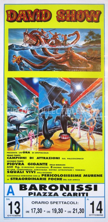 Victor David Show Circus Poster - Italy, 0