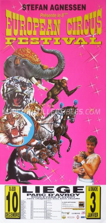 European Circus Festival Circus Poster - Belgium, 1998