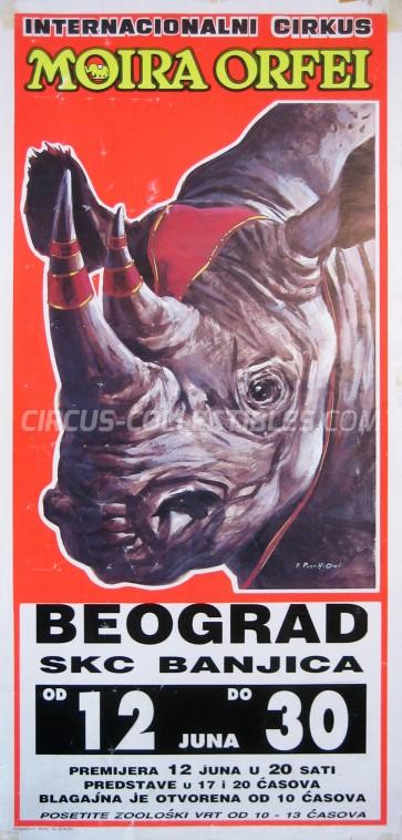 Moira Orfei Circus Poster - Italy, 1991