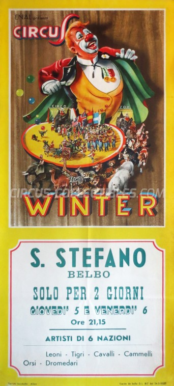 Winter Circus Poster - Italy, 1964