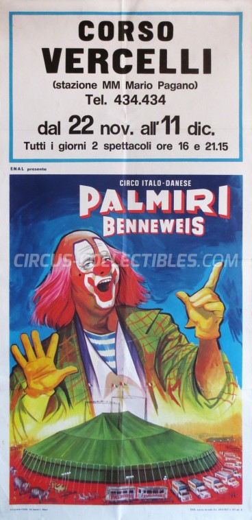 Palmiri Benneweis Circus Poster - Italy, 1966