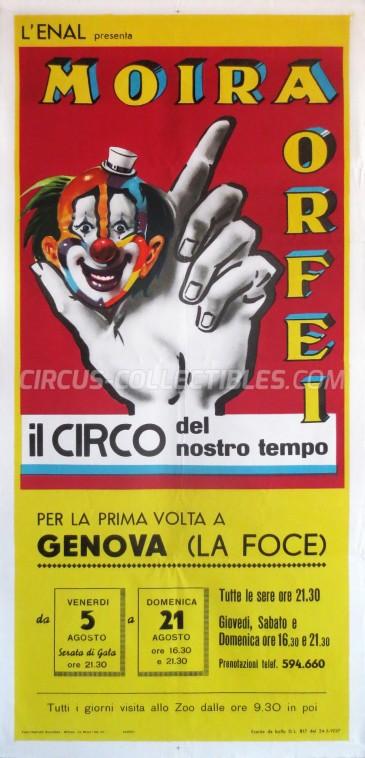 Moira Orfei Circus Poster - Italy, 1966